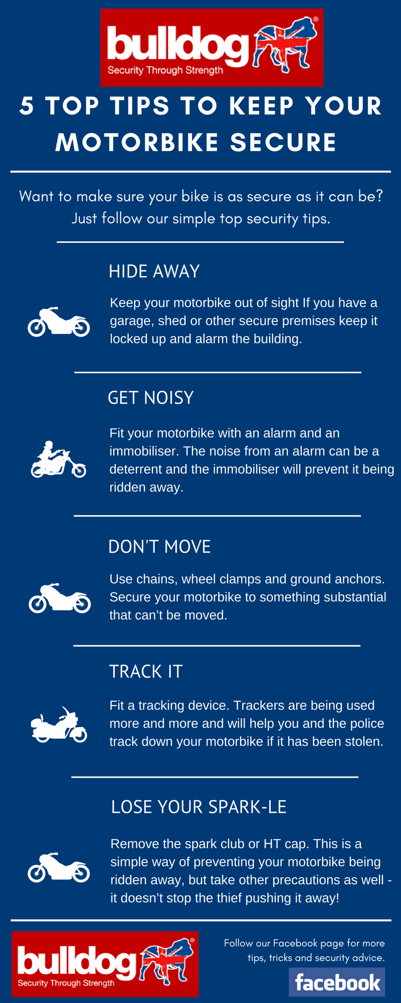 5 top tips to keep your motorbike secure